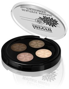 Beautiful Mineral Eyeshadow Quattro Cappuccino Cream 02 - Lavera