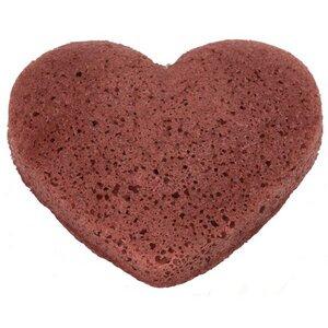 The Konjac Sponge Herzförmig Rot Trockene Haut - KONGY