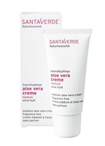 Aloe Vera Creme medium ohne Duft - Santaverde