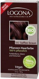 Pflanzenhaarfarbe Pulver Kaffeebraun - Logona