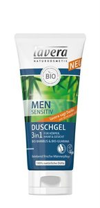 Men sensitiv Duschgel 3in1 für Körper, Haar und Gesicht - Lavera