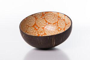 Perlmutt-Ei-Kokosnuss-Schale - Orange - Bea Mely