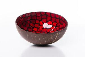 Perlmutt-Kokosnuss-Schale - Rot - Bea Mely