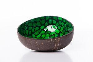 Perlmutt-Kokosnuss-Schale - Grün - Bea Mely