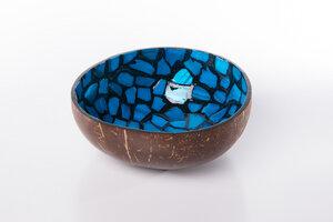 Perlmutt-Kokosnuss-Schale - Blau - Bea Mely