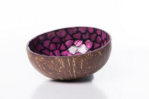 Perlmutt-Kokosnuss-Schale - Violett - Bea Mely