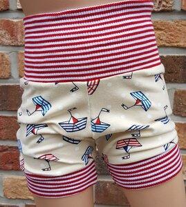 kurze Kinder-/Baby-Mitwachshose Segelboote - Omilich