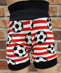 kurze Kinder-/Baby-Mitwachshose Fußball rot - Omilich