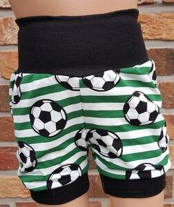 kurze Kinder-/Baby-Mitwachshose Fußball grün - Omilich