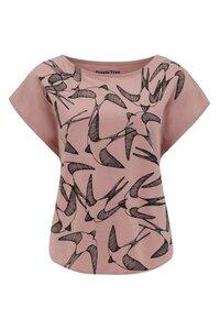 Swallows Print Tee - Pink - People Tree