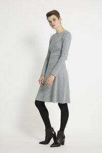 Lola Stripe Dress - Grey - People Tree