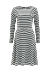 Lola Stripe Dress - Grey - People Tree