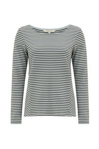 Macy Stripe Top - Grey - People Tree