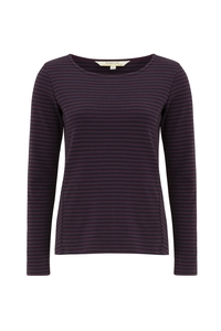 Macy Stripe Top - Plum - People Tree