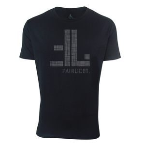 FAIRLIEBT Logo T-Shirt, schwarz - Fairliebt.