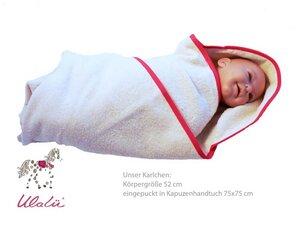 Baby rotes Kapuzenhandtuch - Ulalü