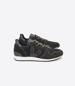HOLIDAY LOW TOP FLANNEL - DARK GRAFITE - Veja