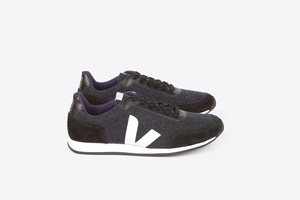 ARCADE FLANNEL - DARK BLACK WHITE - Veja