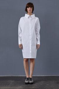 Kragen-Kleid aus Bio-Popeline - LUXAA