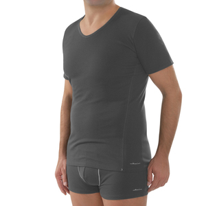 Shirt V-neck anthrazit - comazo|earth