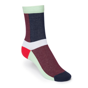 ThokkThokk Layer High-Top Socken Red/Blue  - THOKKTHOKK