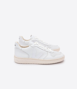 V-10 LEATHER - EXTRA WHITE  - Veja