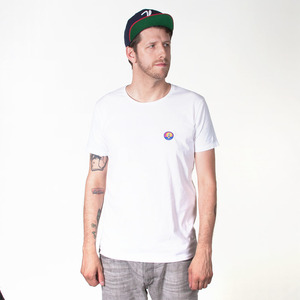 80s LOGO PATCH MEN T-SHIRT WHITE - HAFENDIEB