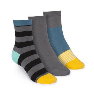 ThokkThokk 3er Pack Mid-Top Socken Tape/Graphite/Triple Striped  - THOKKTHOKK