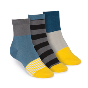 ThokkThokk 3er Pack Mid-Top Socken Triple Striped/Tape/Triple - THOKKTHOKK