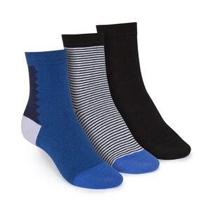 ThokkThokk 3er Pack Mid-Top Socken Art Deco/B&W Striped/Black - THOKKTHOKK