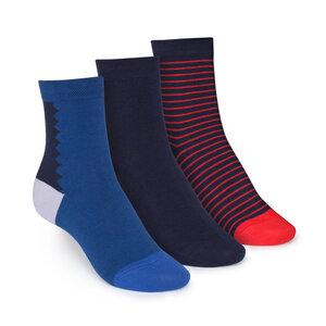 ThokkThokk 3er Pack Mid-Top Socken Art Deco/Midnight/Stripe - THOKKTHOKK