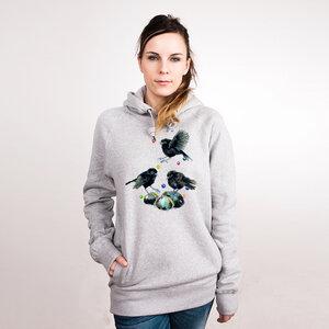 Black Robins - Frauenhoodie aus Bio-Baumwolle - Coromandel