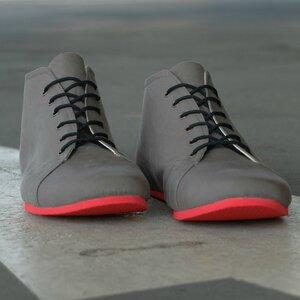 '66 veganer Sneaker aus Bio-Baumwolle Grau / Rot - SORBAS