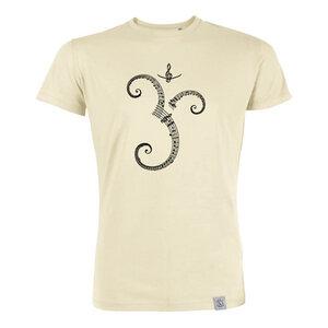 Musik OM - Siebdruck T-Shirt M - natural - Sacred Designs