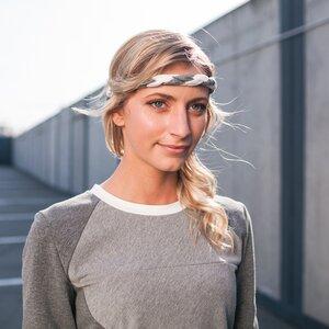 Haarband Nef grau x creme - eisbörg