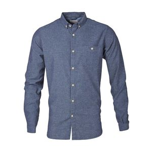 Solid Col Flannel Shirt Limoges - KnowledgeCotton Apparel