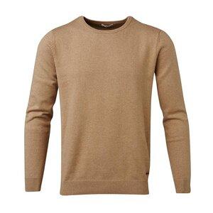 Basic O-Neck Cashmere / Cotton Desert Sand - KnowledgeCotton Apparel