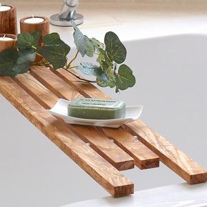 Badewannenablage (ca. 95 cm) aus Olivenholz - Olivenholz erleben