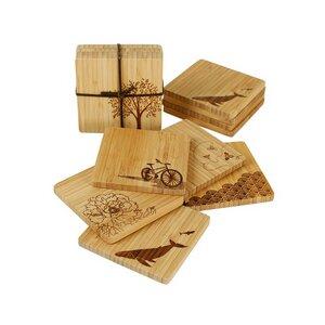 Bambus Untersetzer 4er Set - Bambu