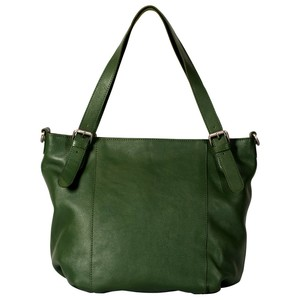 SHOPPER LAYLA aus grünem Öko Leder - manbefair