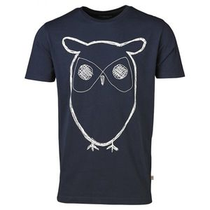 Single Jersey With Owl Print - GOTS - Total Eclipse - KnowledgeCotton Apparel