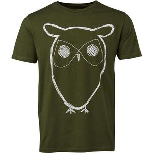 Single Jersey With Owl Print - GOTS - Rifle Green - KnowledgeCotton Apparel