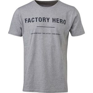 Tee W/Hero Print - GOTS - Grey Melange - KnowledgeCotton Apparel