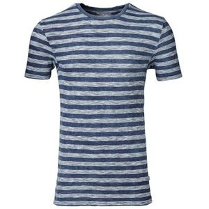 Tee W/Stripes Narrow Indigo Slope - KnowledgeCotton Apparel