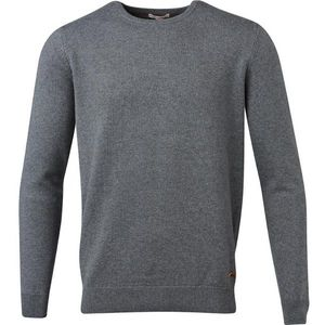 Basic O-Neck Cashmere/Cotton - GOTS - Dark Grey Melange - KnowledgeCotton Apparel