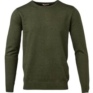 Strickpullover - Basic O-Neck Cashmere/Cotton - GOTS - Rifle Green - KnowledgeCotton Apparel