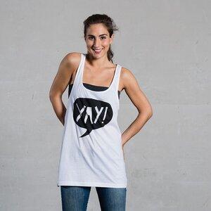 Women Tanktop 'YAY' - DISKO