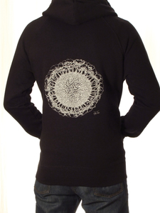 Fairwear Organic Unisex Hoodie Earth-Roots BlackWhite - Life-Tree
