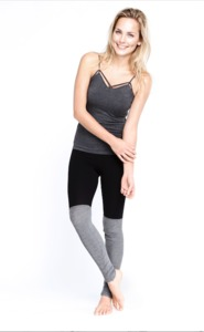 Long Ribbed Legging - black - Mandala