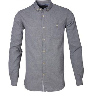 Solid Col. Flannel Shirt - GOTS - Grey Melange - KnowledgeCotton Apparel